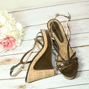 Marc by Marc Jacobs Leather Cork Wedge Sz 8.5